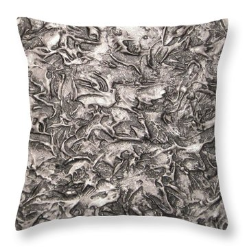 Silver Streak Throw Pillow