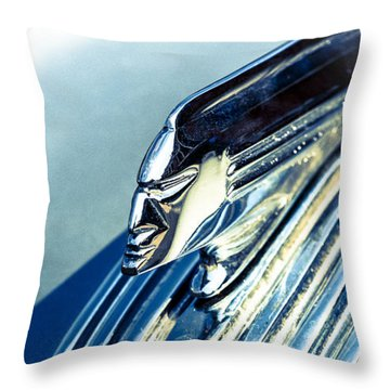 Profile In Chrome II Throw Pillow by Caitlyn  Grasso