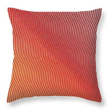 Throw Pillow featuring the digital art Silver To Gold by Denise Beverly