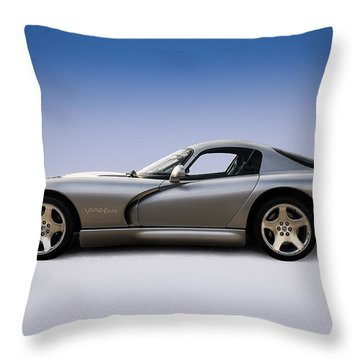 Silver Viper Throw Pillow