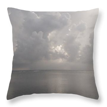 Silvern Sea Throw Pillow by Amar Sheow