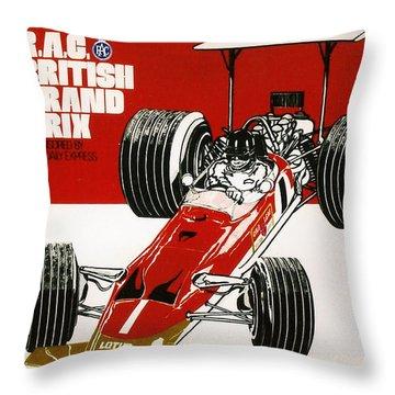 Silverstone Grand Prix 1969 Throw Pillow