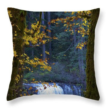 Silverton Falls Oregon Throw Pillow