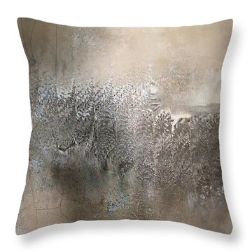 Silvery Night Throw Pillow