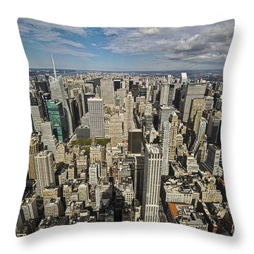 Throw Pillow featuring the photograph Sim City by Mihai Andritoiu