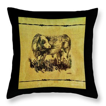 Simmental Bull 12 Throw Pillow