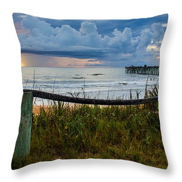 Throw Pillow featuring the photograph Simple Flager by Tyson Kinnison