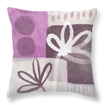 Simple Flowers- Contemporary Painting Throw Pillow