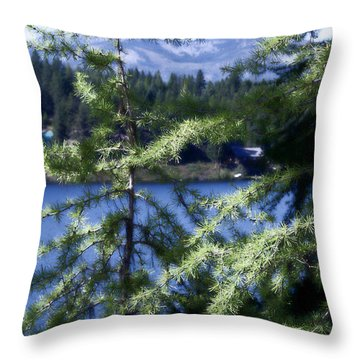 Simple Life Throw Pillow by Janie Johnson