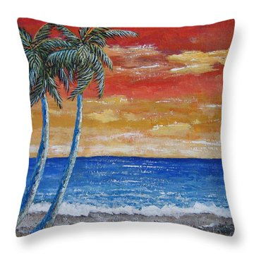 Throw Pillow featuring the painting Simple Pleasure by Suzanne Theis