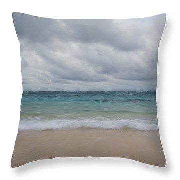 Simple Seascape Throw Pillow