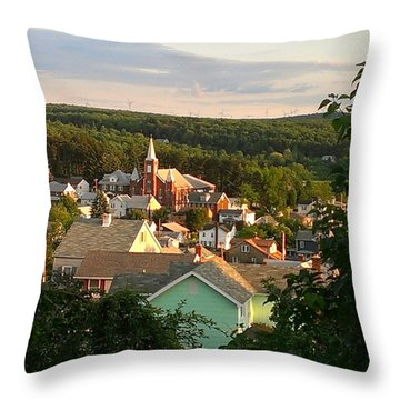 Simple Small Town Throw Pillow