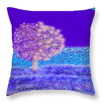 Simple Spring Night Throw Pillow