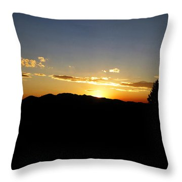 Simple Sunset Throw Pillow by Jeremy Rhoades