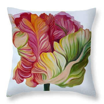 Simple Tulip Throw Pillow by Debbie Hart