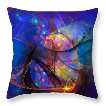Simple Twist Of Fate Throw Pillow by Modern Art Prints