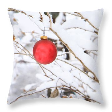 Wintertime Accent Throw Pillow