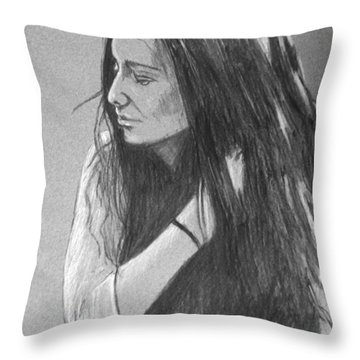 Simplicity Grey Throw Pillow by Justin Moore