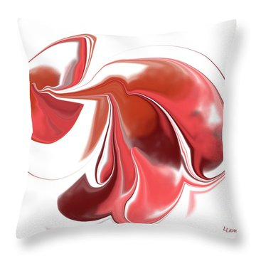 Simplicity In Red Throw Pillow by Louise Lamirande