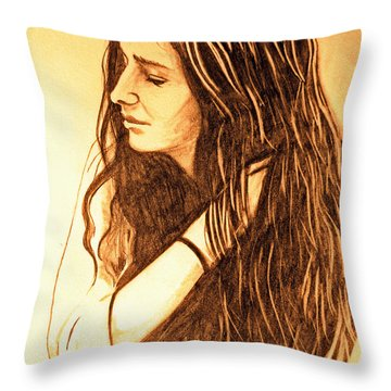 Simplicty Throw Pillow by Justin Moore