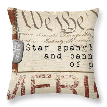 Simplified America Throw Pillow by Grace Pullen