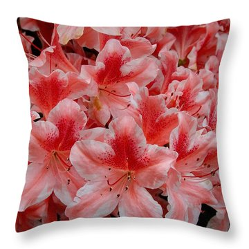 Simply Azaleas Throw Pillow by Rodney Lee Williams