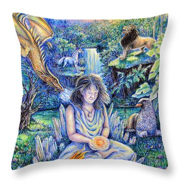 Simply Elemental Throw Pillow by Gail Butler
