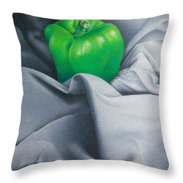 Simply Green Throw Pillow