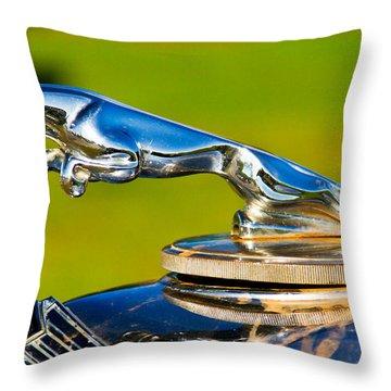 Simply Jaguar-front Emblem Throw Pillow by Eti Reid