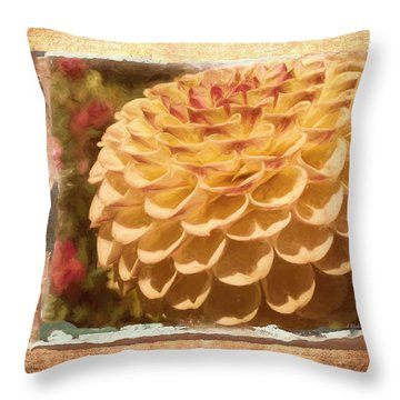 Simply Moments - Flower Art Throw Pillow by Jordan Blackstone