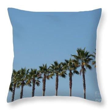 Simply Palms Throw Pillow