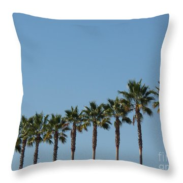 Simply Palms Throw Pillow
