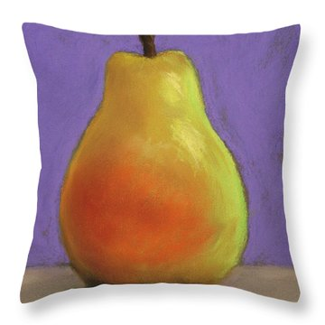 Simply Pear Throw Pillow