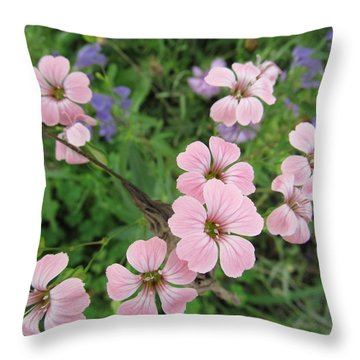 Throw Pillow featuring the photograph Simply Pink by Tina M Wenger