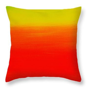 Simply Rasta Throw Pillow by Jean Cormier