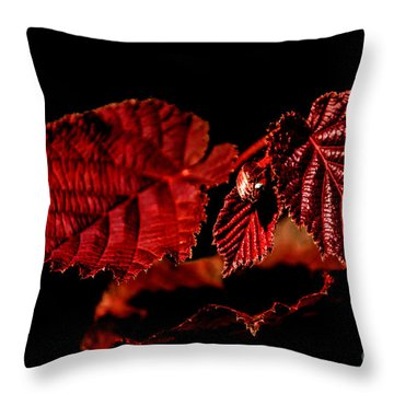 Simply Red Throw Pillow by Michelle Meenawong