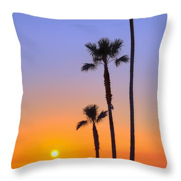 Throw Pillow featuring the photograph Simply Sunset by Eddie Yerkish
