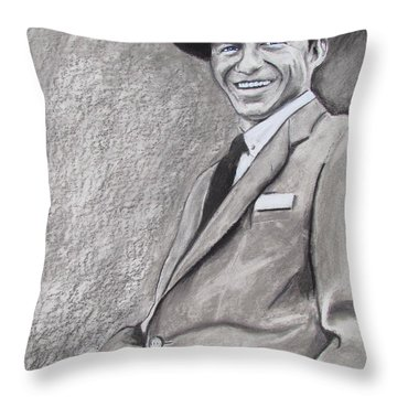 Sinatra - The Voice Throw Pillow