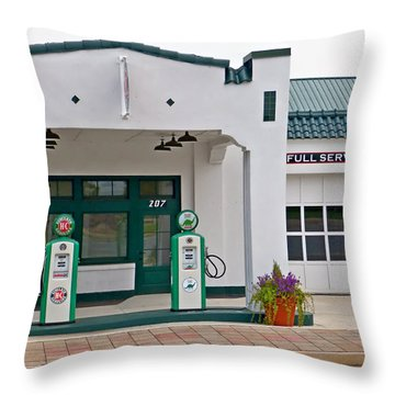 Sinclair Gas Station Throw Pillow
