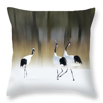 Crane Throw Pillows