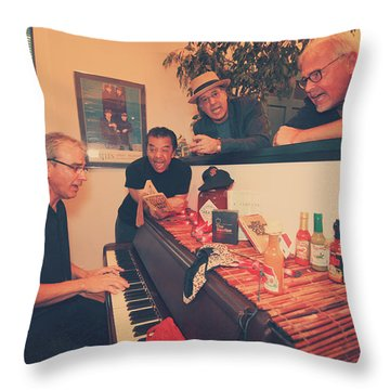 Sing Along Throw Pillow by Laurie Search