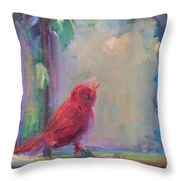 Sing Little Bird Throw Pillow