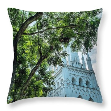 Singapore Beauty Throw Pillow