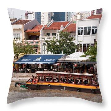 Singapore Boat Quay 04 Throw Pillow