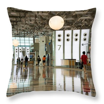 Singapore Changi Airport 02 Throw Pillow