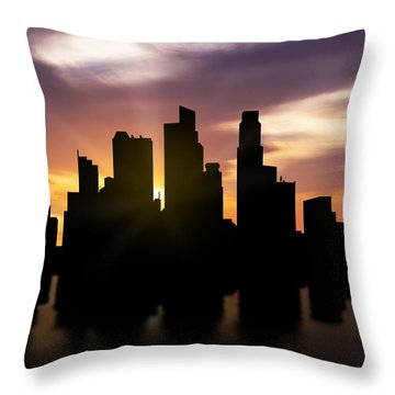 Singapore City Throw Pillows