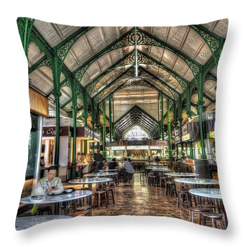 Singapore Cuisine Throw Pillow by John Swartz