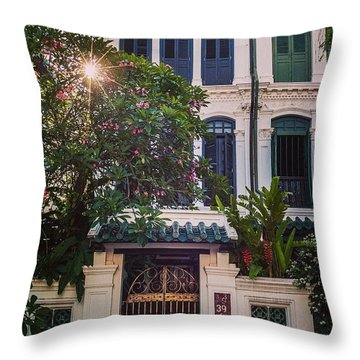Singapore Traditional Houses Throw Pillow