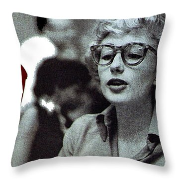 Singer Pianist Blossom Dearie  No Known Date Throw Pillow