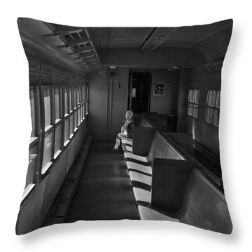Throw Pillow featuring the photograph Singin' In The Train by Jeremy Rhoades